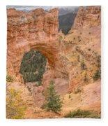 Natural Bridge - Vertical Fleece Blanket