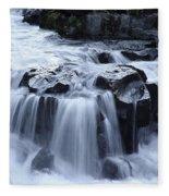 Natural Bridges Falls 02 Fleece Blanket