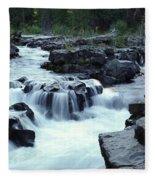 Natural Bridges Falls 03 Fleece Blanket