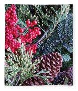 Natural Christmas 3 Fleece Blanket