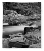 Natural Contrast Black And White Fleece Blanket