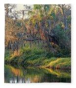 Natural Florida Landscape Fleece Blanket
