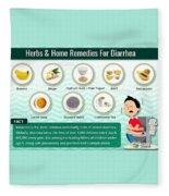 Natural Home Remedies For Diarrhea In Kids And Adults Fleece Blanket