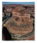 Natural Horseshoe Bend Arizona  Fleece Blanket