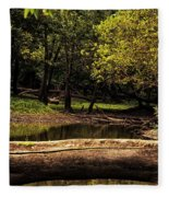 Natural Seating By River Fleece Blanket