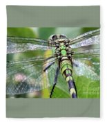Natural Stained Glass Fleece Blanket