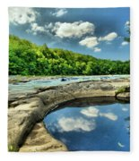 Natural Swimming Pool Fleece Blanket