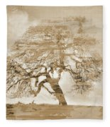 Natural Tree Fleece Blanket
