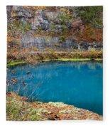 Naturally Blue Fleece Blanket