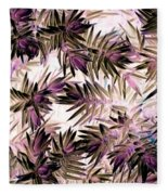 Nature Abstract In Pink And Brown Fleece Blanket