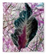 Nature Abstract Of Leaf And Grass Fleece Blanket