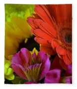 Nature Colorful Bouquet Fleece Blanket