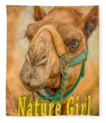 Nature Girl Camel Fleece Blanket