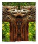 Nature In Abstract 4 Fleece Blanket