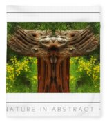 Nature In Abstract 4 Poster Fleece Blanket