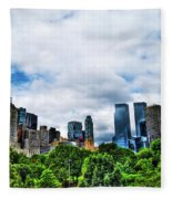 Nature In Metropolis Fleece Blanket