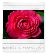 Nature In Perfection Poster Fleece Blanket