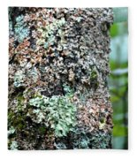 Nature Painted Tree Bark Fleece Blanket