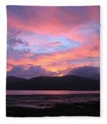 Nature's Cairns Sunrise Fleece Blanket