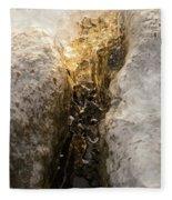 Natures Creativity - Golden Crevasse Fleece Blanket