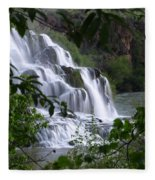 Nature's Framed Waterfall Fleece Blanket
