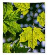 Natures Going Green Design Fleece Blanket