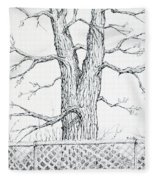 Nature's Lines Fleece Blanket