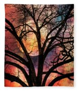 Nature's Stained Glass Fleece Blanket
