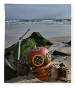 Nautical Collection Found On The Beach Fleece Blanket