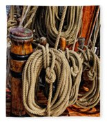 Nautical Knots 17 Oil Fleece Blanket