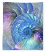 Nautilus Shells Blue And Purple Fleece Blanket