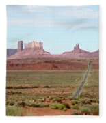 Navajo Flag At Monument Valley Fleece Blanket
