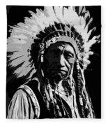 Navajo Indian Chief Fleece Blanket