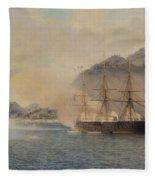 Naval Battle Of The Strait Of Shimonoseki Fleece Blanket
