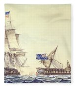 Naval Engagement Between The Uss Frigate Constitution And Hms Frigate Java Fleece Blanket