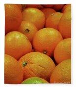 Navel Oranges Fleece Blanket