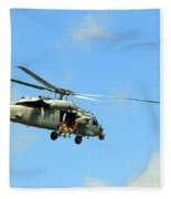 Navy Helicopter Fleece Blanket
