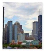 Navy Pier Chicago Illinois Fleece Blanket