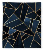 Navy Stone Fleece Blanket