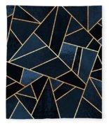 Navy Stone Fleece Blanket