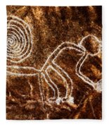 Nazca Monkey Fleece Blanket