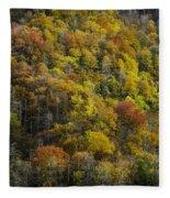 Nc Fall Foliage 0559 Fleece Blanket