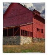Nc Red Barn Fleece Blanket