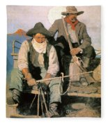 N.c. Wyeth: The Pay Stage Fleece Blanket