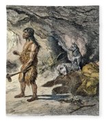 Neanderthal Man Fleece Blanket