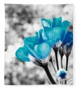 Near Bloom Blue Fleece Blanket