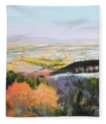 Near Clawddnewydd In North Wales. Fleece Blanket