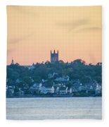 Near Easton Point - New Port Rhode Island Fleece Blanket