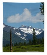 Near Sparwood British Columbia  Fleece Blanket