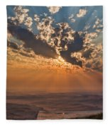 Near Sunset Fleece Blanket